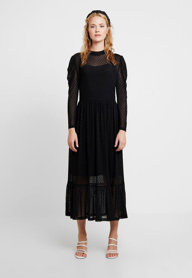 FREYALC DOTS DRESS - Day dress - pitch black