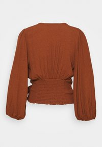 Abercrombie & Fitch - CHASE BLOUSE - Blůza - dark brown - 1