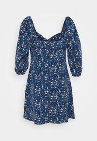 Glamorous - MINI DRESS RUCHED SWEETHEART NECKLINE  - Day dress - navy blue/orange - 1