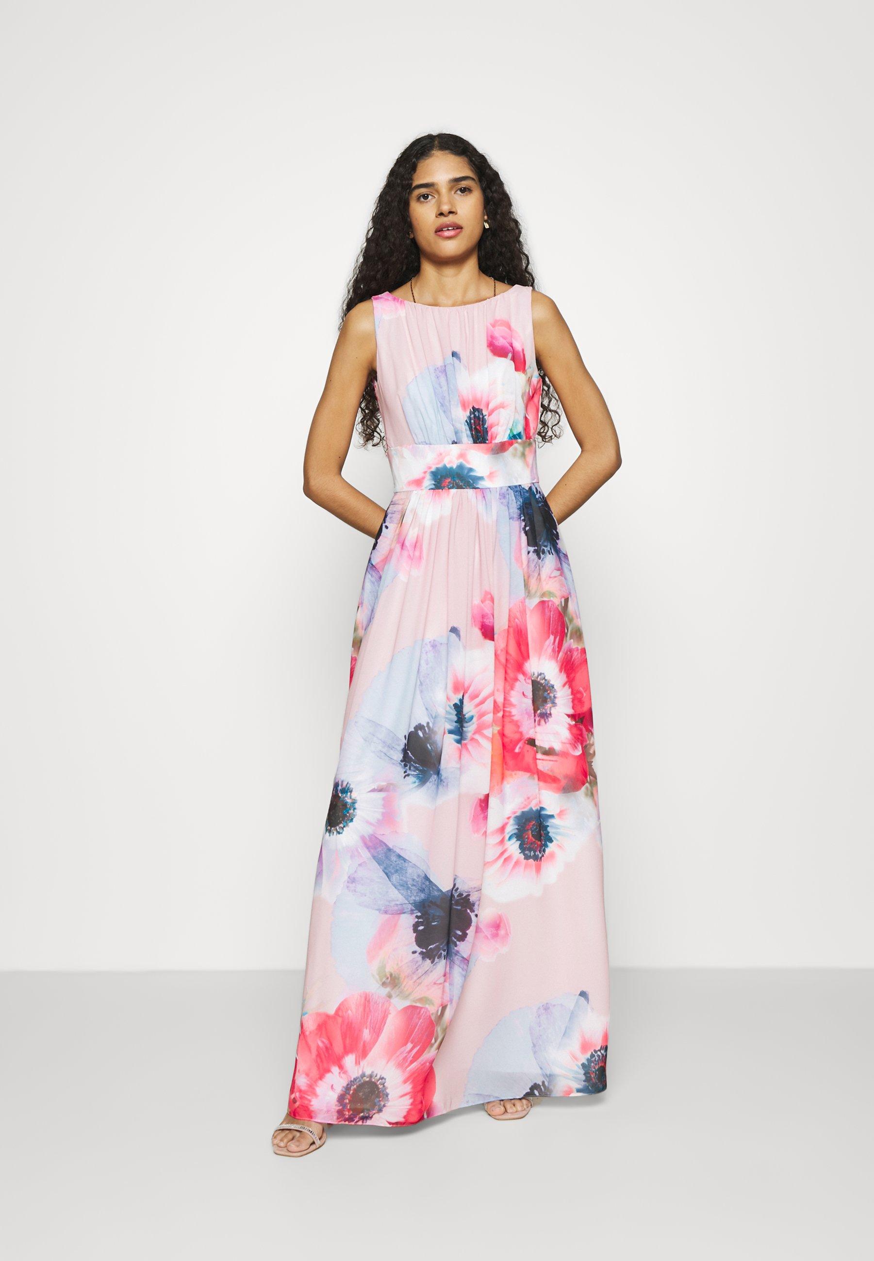 Swing Abendkleid Maxikleid Powder Pink Multi Mehrfarbig Zalando De