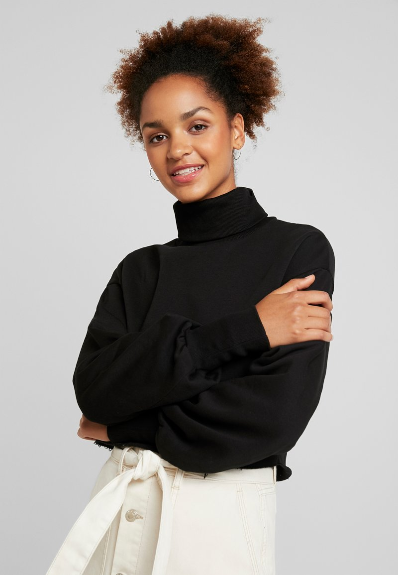 Nly by Nelly - HIGH POLO - Sweatshirt - black