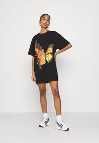NEW girl ORDER - BUTTERFLY DRESS - Jersey dress - black - 1