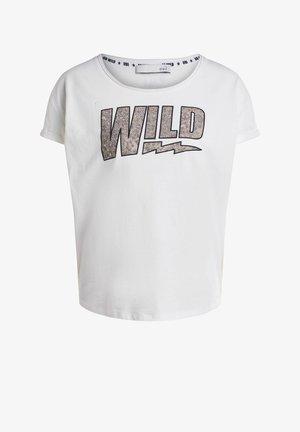 WILD - Print T-shirt - cloud dancer