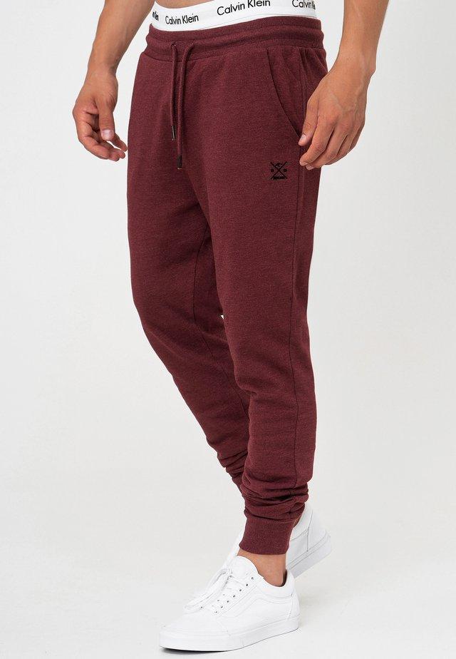 Pantaloni sportivi - bordeaux mix