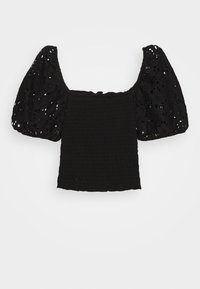 New Look 915 Generation - SHIRRED - T-shirt print - black - 0