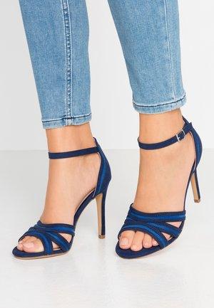 High heeled sandals - dark blue