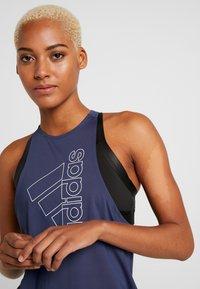 adidas Performance - TECH BOS TANK - Camiseta de deporte - tech indigo/white - 4