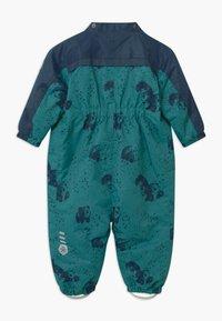 Color Kids - DOTS UNISEX - Snowsuit - dark green/dark blue - 2