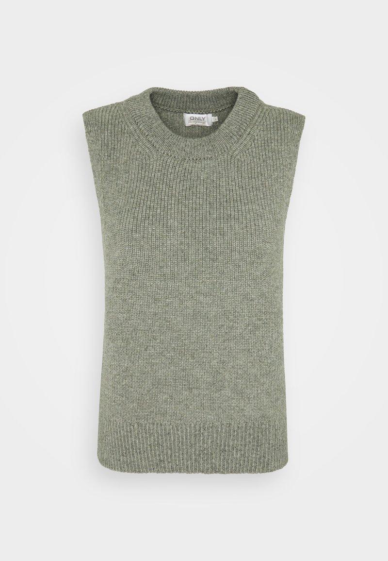 ONLY Tall - ONLPARIS LIFE - Stickad tröja - kalamata/melange