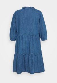 New Look Curves - TIER MIDAXI - Denim dress - blue denim - 1