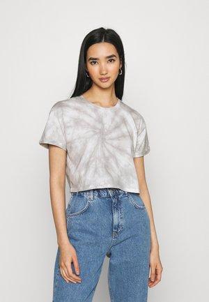 Print T-shirt - grey/white