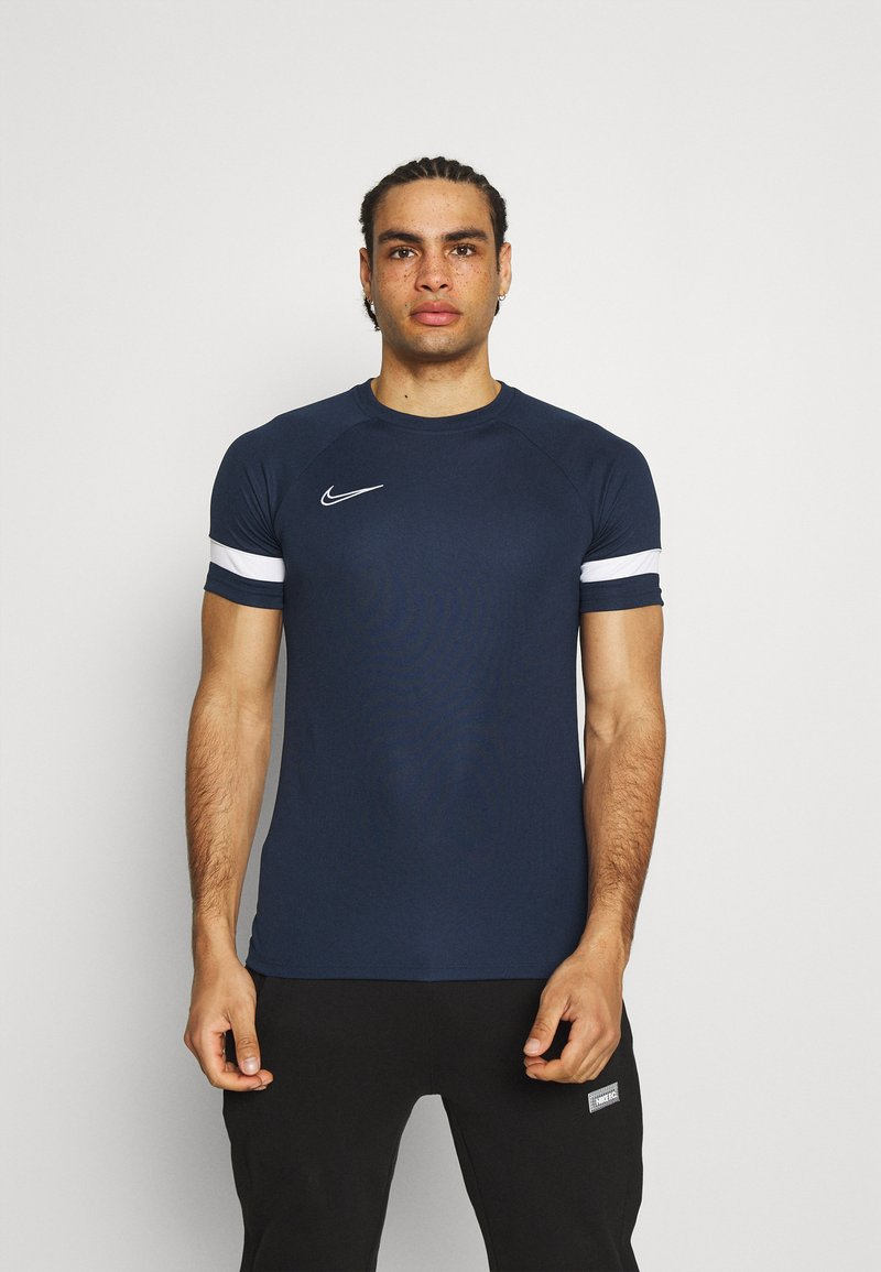 Nike Performance - ACADEMY 21 - Print T-shirt - obsidian/white