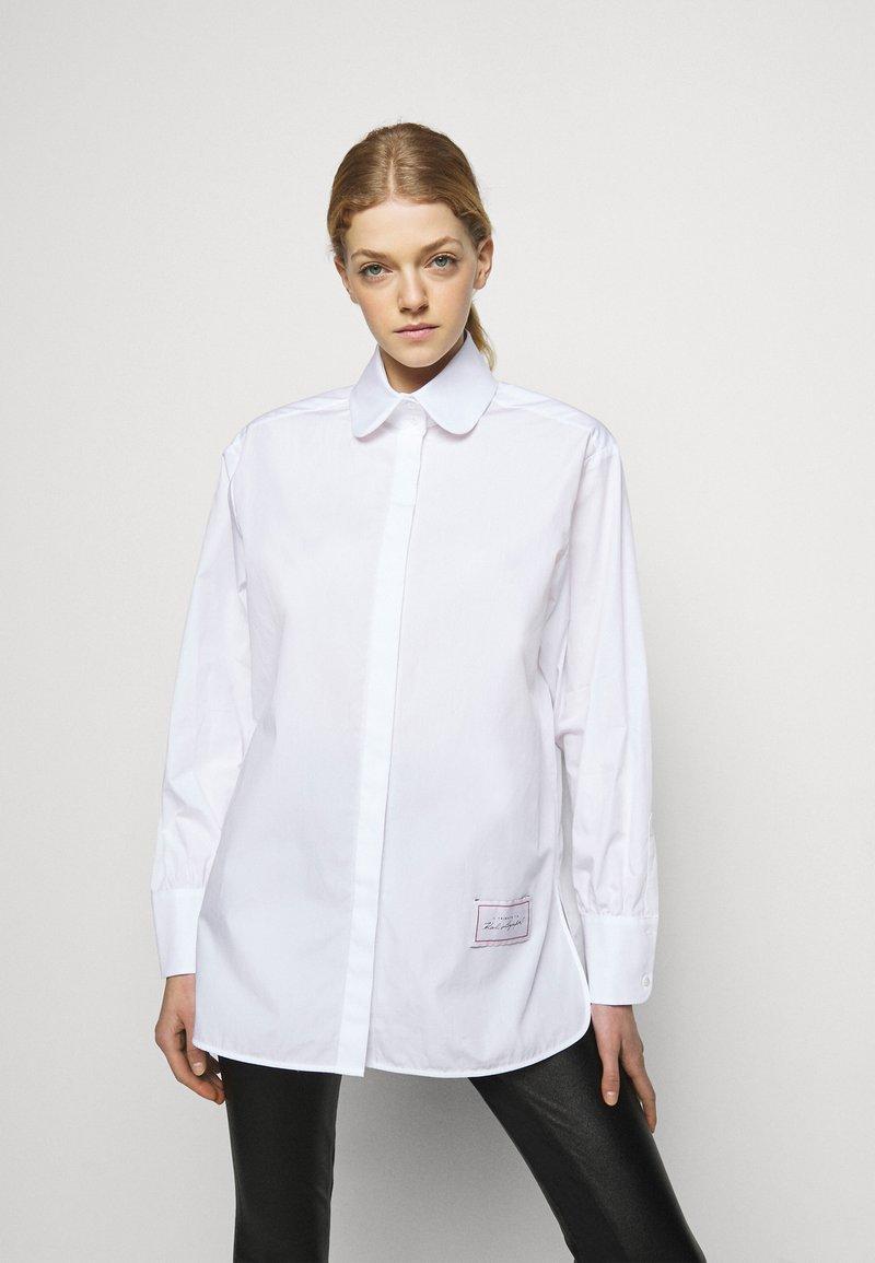 KARL LAGERFELD - CLASSIC POPLIN - Blůza - white
