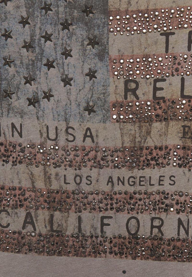 True Religion CREW AMERICAN FLAG - Langarmshirt - grey/grau wVwOti