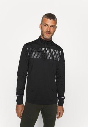 LOOPY MIDLAYER - Sportshirt - black