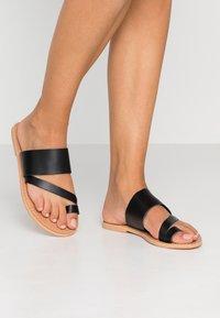 Topshop Wide Fit - WIDE FIT HOPE  - T-bar sandals - black - 0