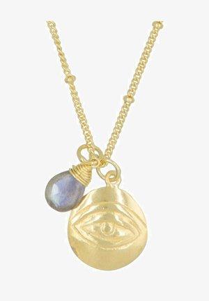 Necklace - purple/gold-coloured