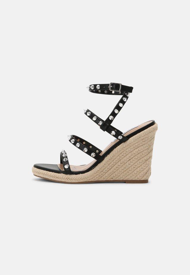 MALI - Sandalen met plateauzool - black