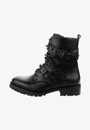 COMPITTO - Cowboy/biker ankle boot - black