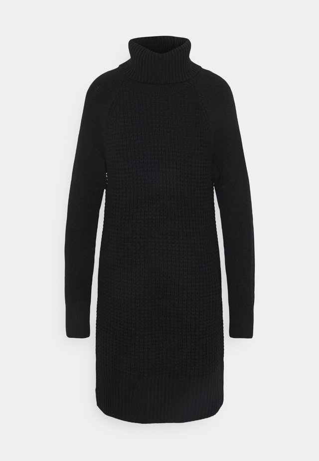COWL NECK - Jumper dress - black