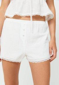 Stradivarius - Pyjama bottoms - white - 3