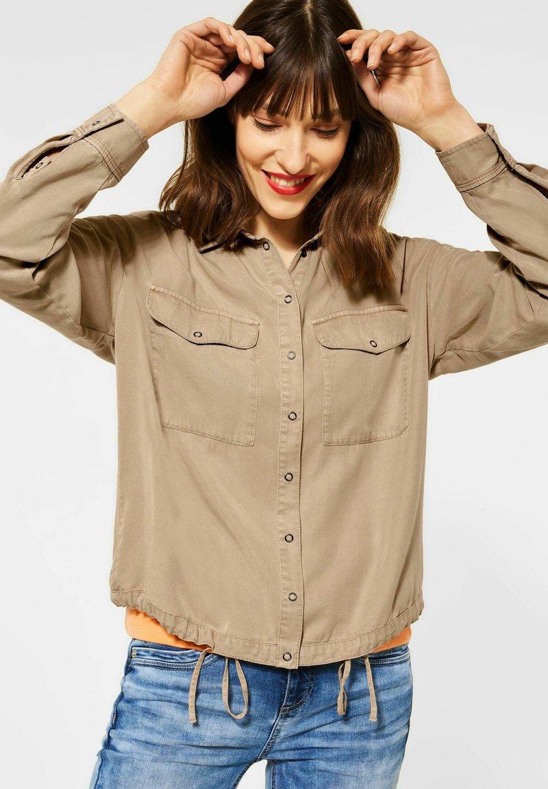Street One - Button-down blouse - beige