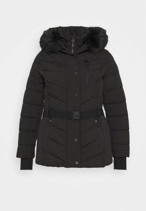SHORT BELTED - Winter jacket - black
