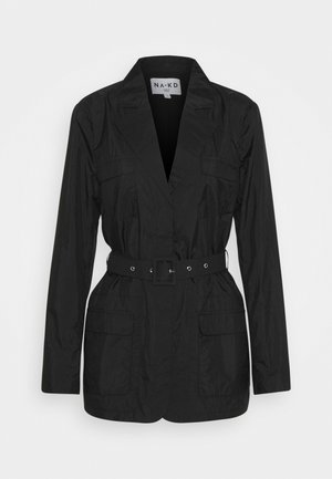 PATCH POCKET JACKET - Krátký kabát - black