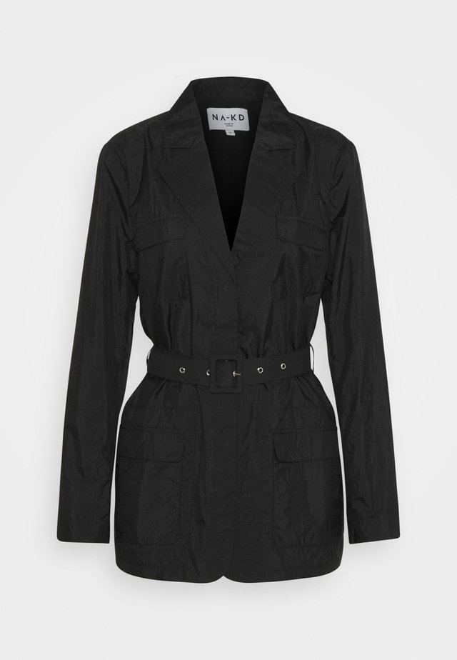 PATCH POCKET JACKET - Manteau court - black