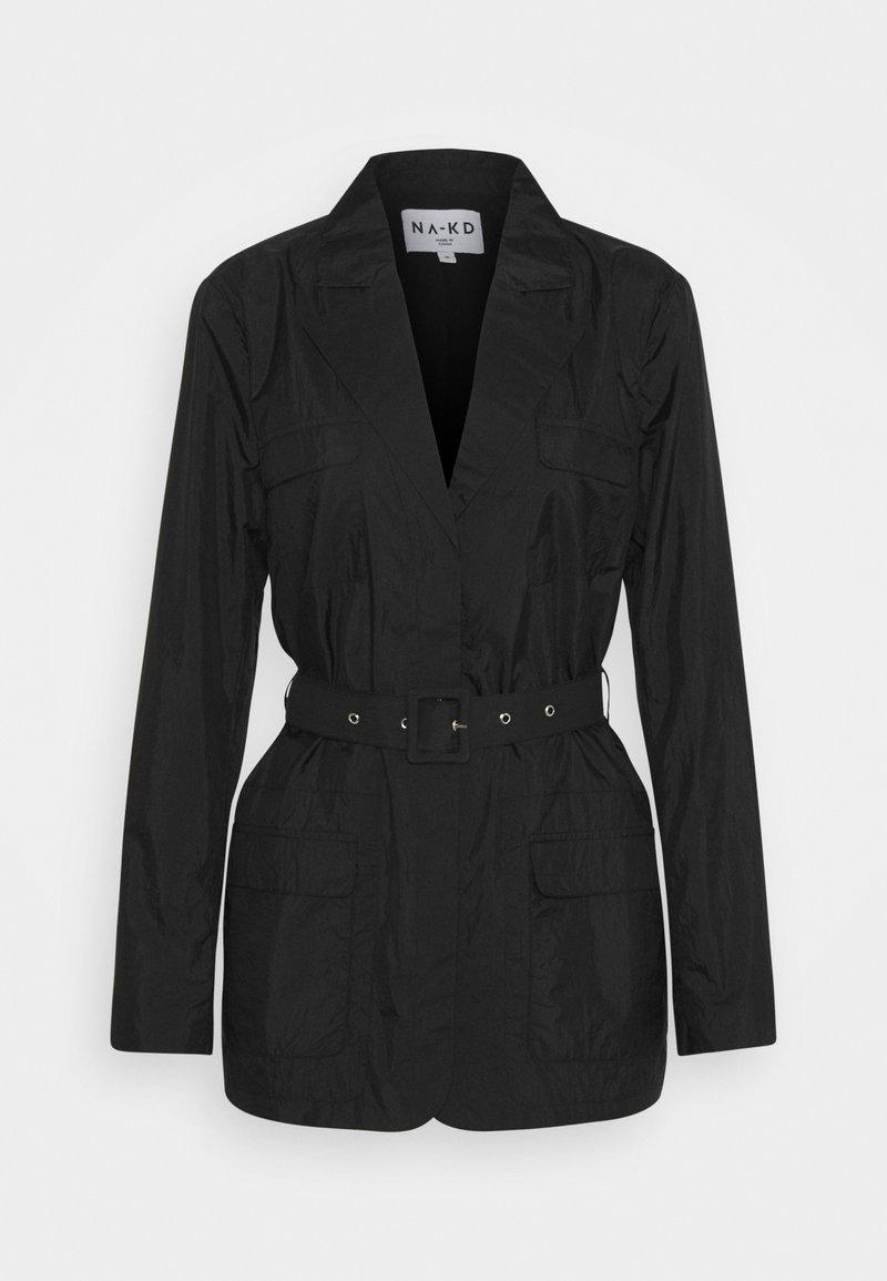 NA-KD - PATCH POCKET JACKET - Short coat - black