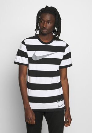 STRIPE TEE - Print T-shirt - white/black