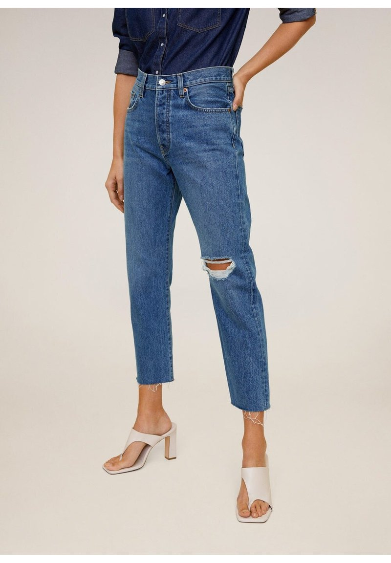 Mango - HAVANA - Straight leg jeans - donkerblauw