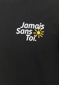 Les Petits Basics - LONGSLEEVE JAMAIS SANS TOI PRINT UNISEX - Long sleeved top - black - 2