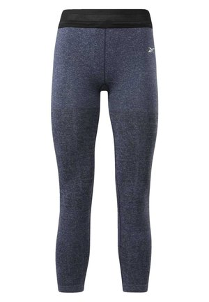 UNITED BY FITNESS MYOKNIT SEAMLESS 7/8 LEGGINGS - Tights - blue