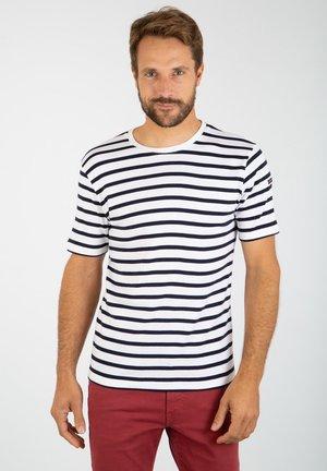 MORGAT MARINIÈRE - T-shirt imprimé - blanc navire