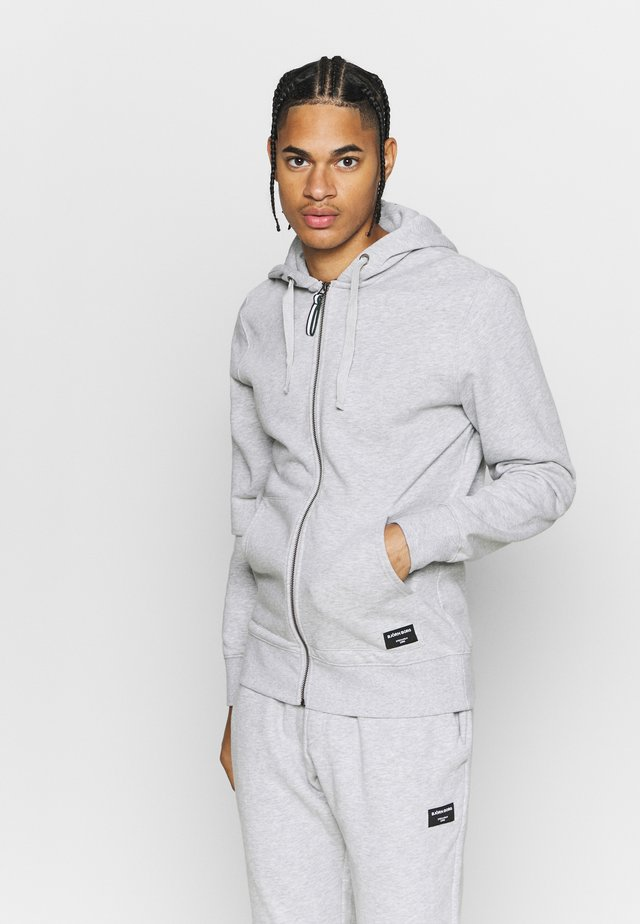 CENTRE ZIP HOOD - Zip-up hoodie - light grey melange