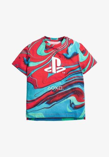 PLAYSTATION T-SHIRT - Print T-shirt - red
