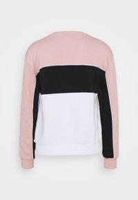 Fila - AMINA BLOCKED CREW NECK - Sweatshirt - white/pale mauve/black - 6