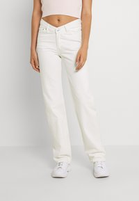 Weekday - TWIN TROUSERS - Jeans straight leg - white - 0