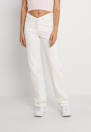 TWIN TROUSERS - Jeans straight leg - white
