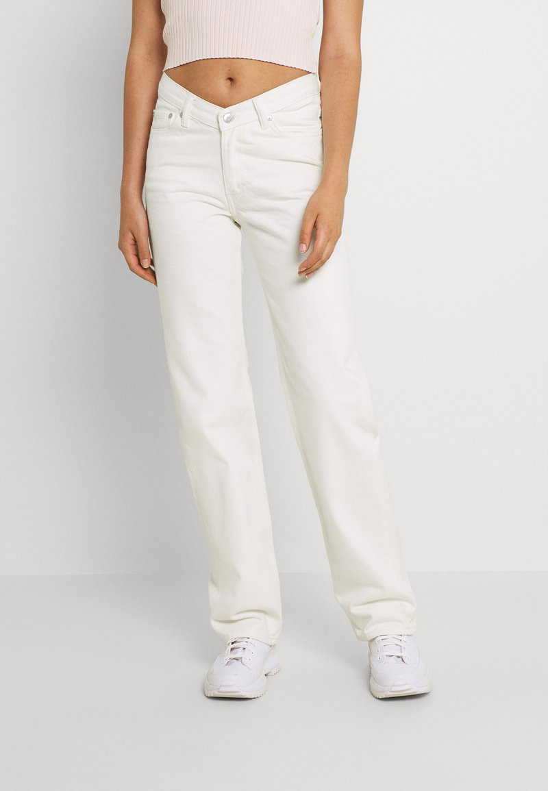 Weekday - TWIN TROUSERS - Jeans straight leg - white