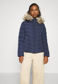 ONLY - ONLNEW ELLAN QUILTED HOOD JACKET - Light jacket - night sky - 0