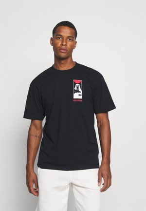 CLOUDY - Print T-shirt - black