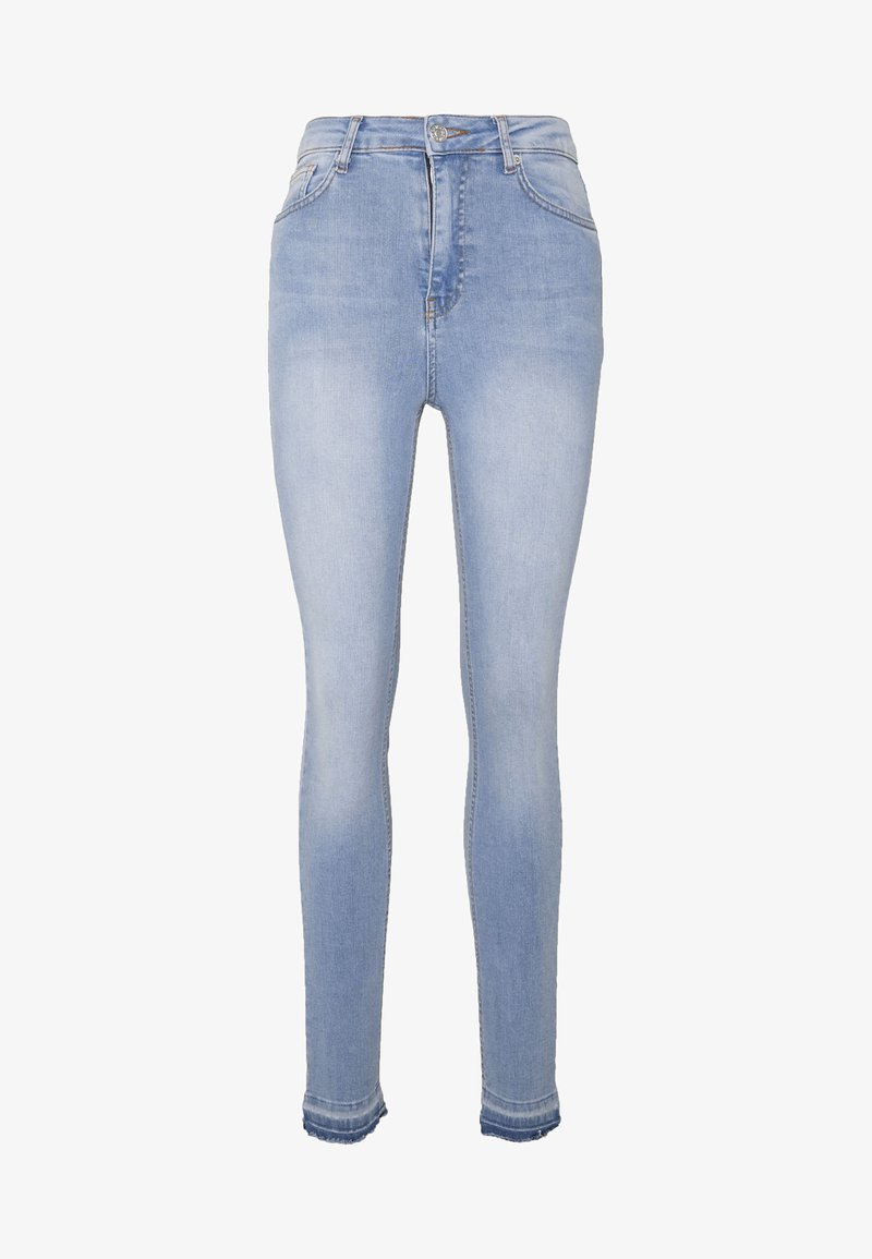 NA-KD Tall - HIGH WAIST OPEN - Jeans Skinny Fit - light blue