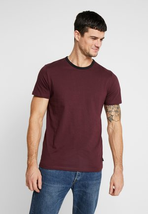 JPRLARS TEE CREW NECK - Basic T-shirt - port royale/black