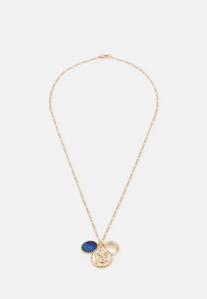 RELIGIOUS COIN CLUSTER NECKLACE UNISEX - Necklace - gold-coloured
