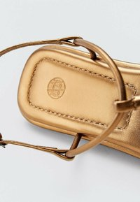 Massimo Dutti - T-bar sandals - gold - 3