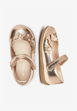 WHITE BUTTERFLY MARY JANE SHOES (YOUNGER) - Ballerina's met enkelbandjes - gold