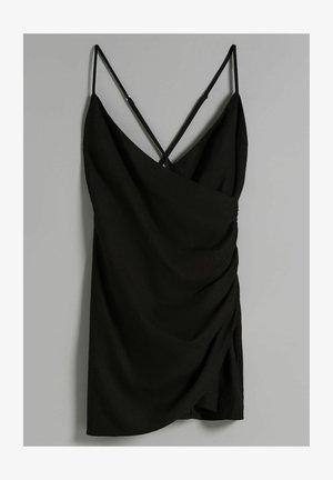 UND AUSSCHNITT IN WICKELOPTIK  - Denní šaty - black