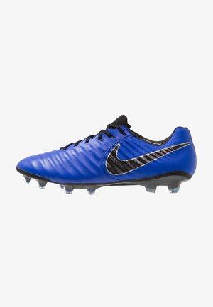 TIEMPO LEGEND 7 ELITE FG - Moulded stud football boots - racer blue/black/metallic silver